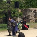 桜の二の丸演舞!そして隆景参上!